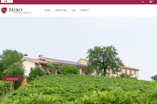 Realizzazione sito web Prosecco Mirò