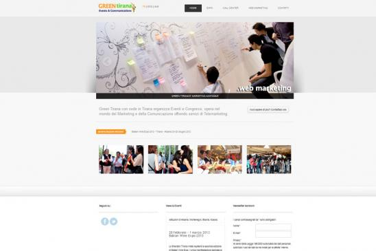 realizzazione sito web Green Tirana