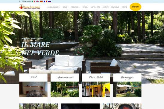 realizzazione sito web Holiday Center Valdor