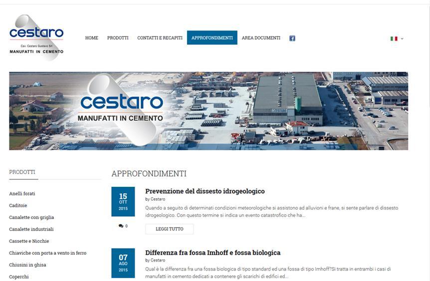 Cestaro Cav - Manufatti in Cemento