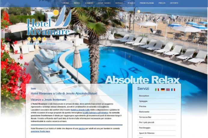 realizzazione sito web Hotel Rivamare