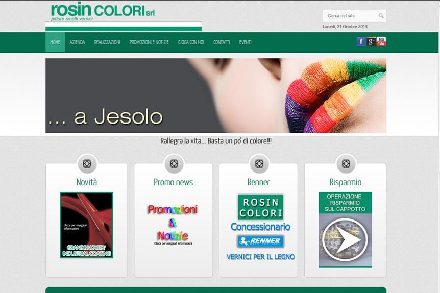 realizzazione sito web Rosin Colori