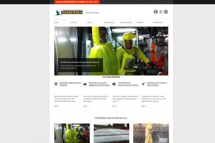 realizzazione sito web Servizi Ecologici Scanferla