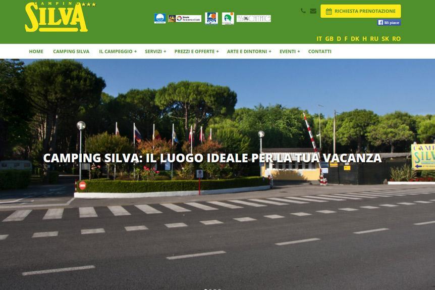 realizzazione sito web Camping Silva