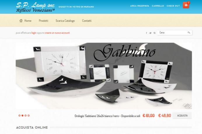 realizzazione sito web Riflessi Veneziani
